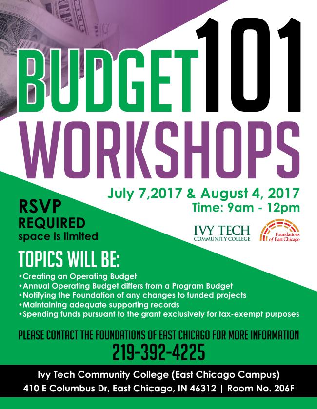 Budget 101 Workshops