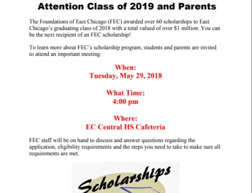 Information regarding – Scholarship 2019