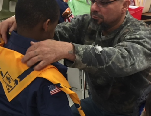 Boy Scouts Receive their Uniforms at McKinley Elementary