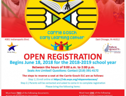 Open Registration for Carrie Gosch Early Learning Center